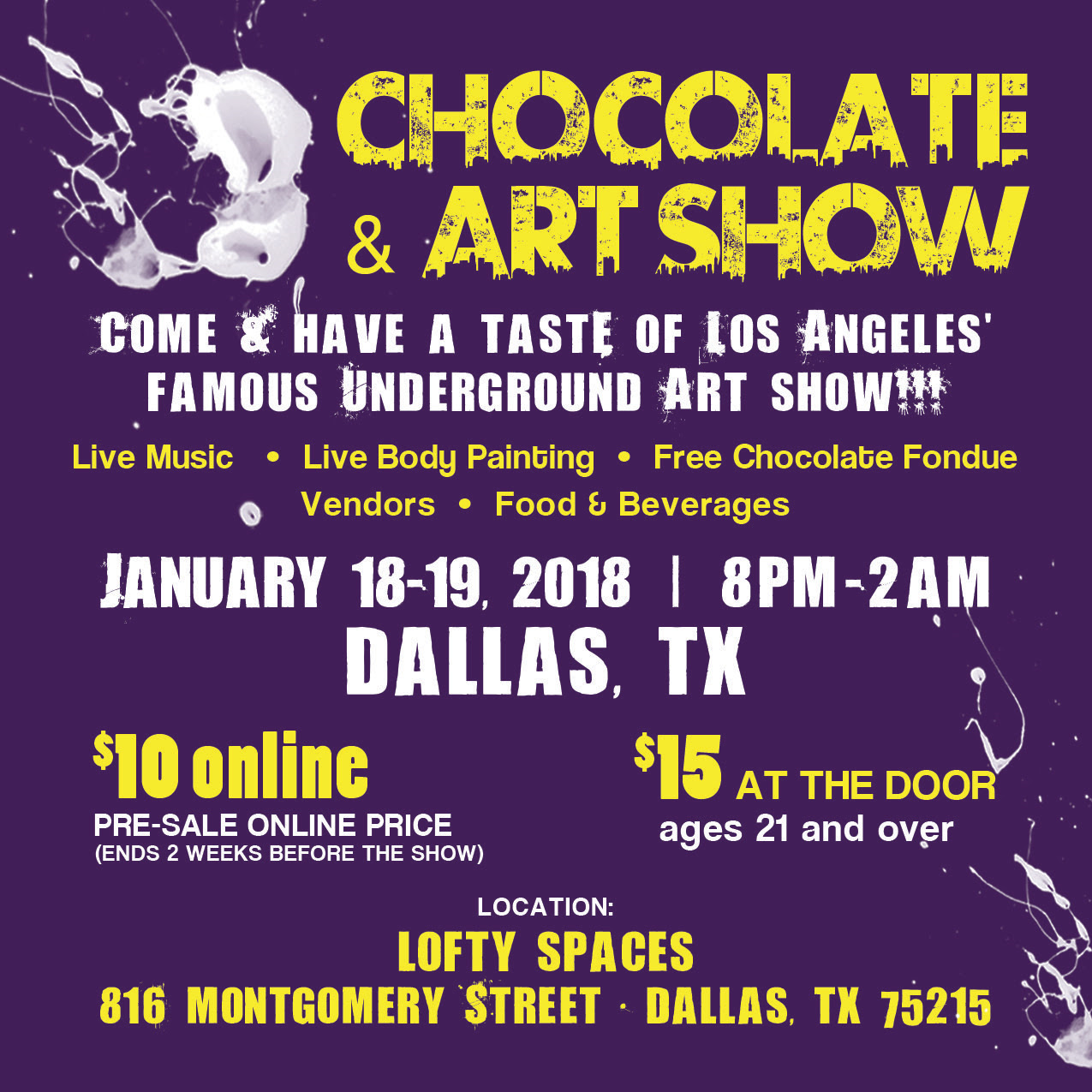 chocolate art show dallas featured image